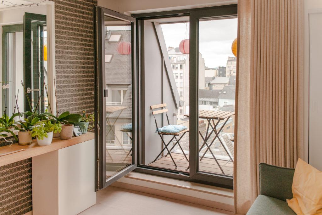 terrasse studio de la residence de coliving flexiroom au luxembourg